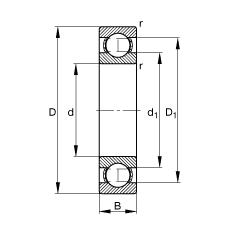 6200 - Deep groove ball bearing