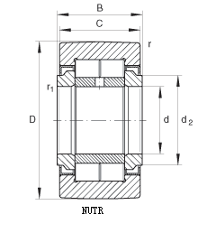 NUTR - yoke type track roller