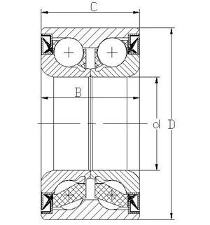DAC34640037 ball structute wheel bearing